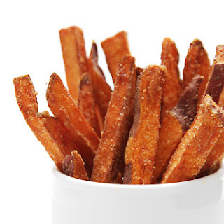 Hand-cut Sweet Potato Fries With Cilantro-lime Aioli.