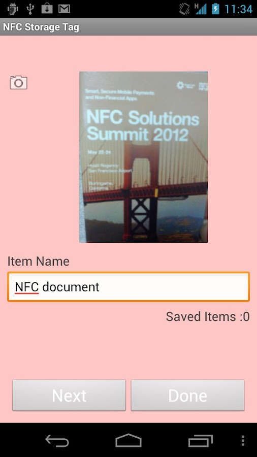 NFC Storage Tag- screenshot