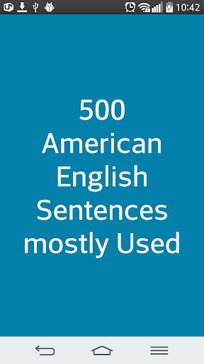 500 English - 미국인이 사용하는 영어 문장