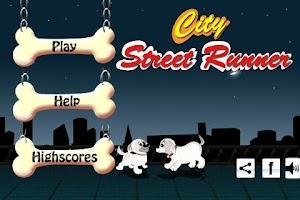 Screenshot of City Street Runner: Dog Jump