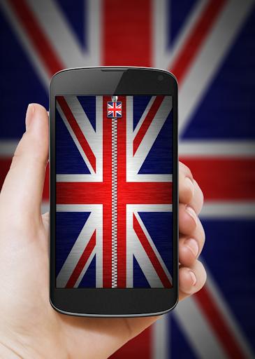 UK Flag Zipper Lock
