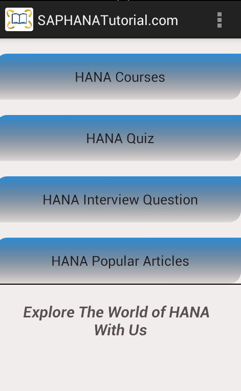 SAP HANA Tutorial- screenshot