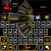 Leather GO Keyboard theme