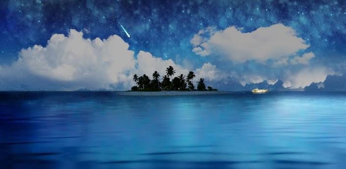 Скачать Живые обои: Остров в море - безмятежность и красота на экране Android