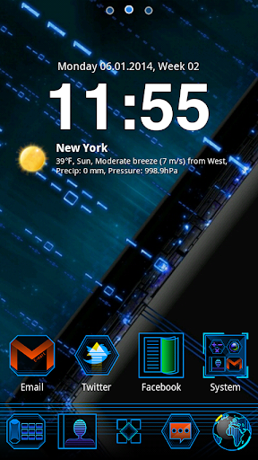 Skyline GO Launcher Theme v1.0 (Unlocked)
