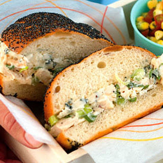 Chicken Salad Sandwiches with Blue Cheese.