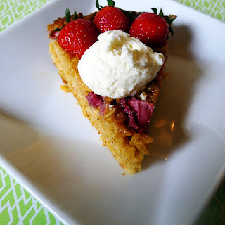 Strawberry Goat Cheese Oat Pie with Whipped Goat Cheese