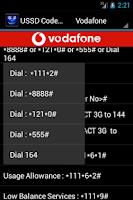 Screenshot of USSD Codes India