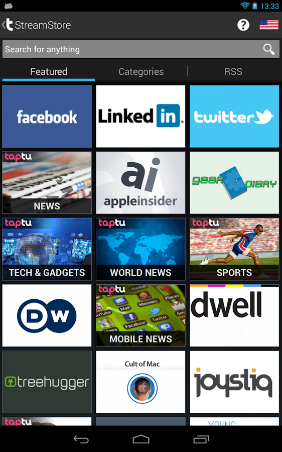 Taptu - DJ your News - screenshot