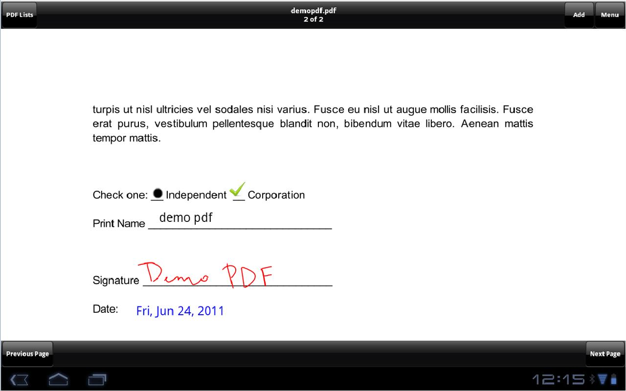 SignMyPad Pro - screenshot