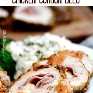 Pistachio Gruyere Chicken Cordon Bleu with Creamy Honey Dijon Sauce
