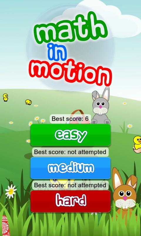 Math in Motion for kids- screenshot