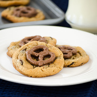 Pretzel Topped Chocolate Chip Cookies