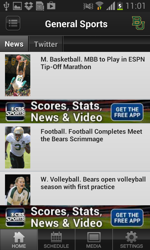 Baylor Bears Sports - screenshot