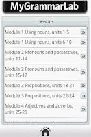 Screenshot of My Grammar Lab A1/A2