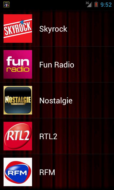 Radios France Live - screenshot