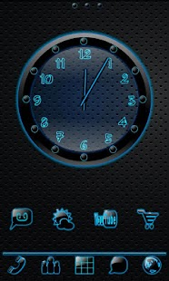 Sleek Ebony Clock Widget - screenshot thumbnail