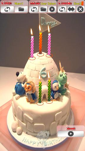 생일 축하 노래 케익과 촛불