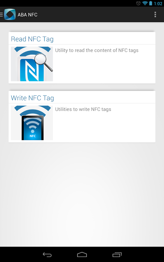 ABA NFC - screenshot