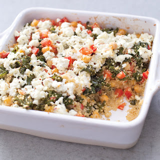 Baked Quinoa with Roasted Kale and Chickpeas