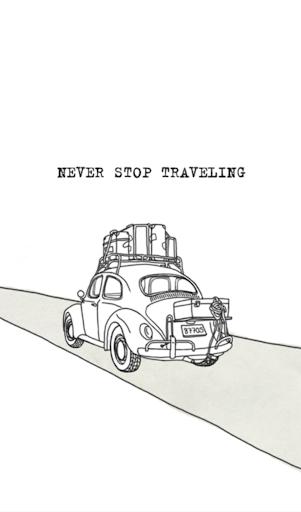 Never stop traveling 카카오톡 테마