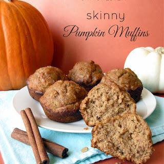 3 Ingredient Skinny Pumpkin Muffins.