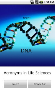 Acronyms in Life Sciences - screenshot thumbnail