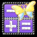 デコ電卓[キラキラBLACK ver.] Free電卓 icon