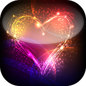 Neon Hearts Live Wallpaper