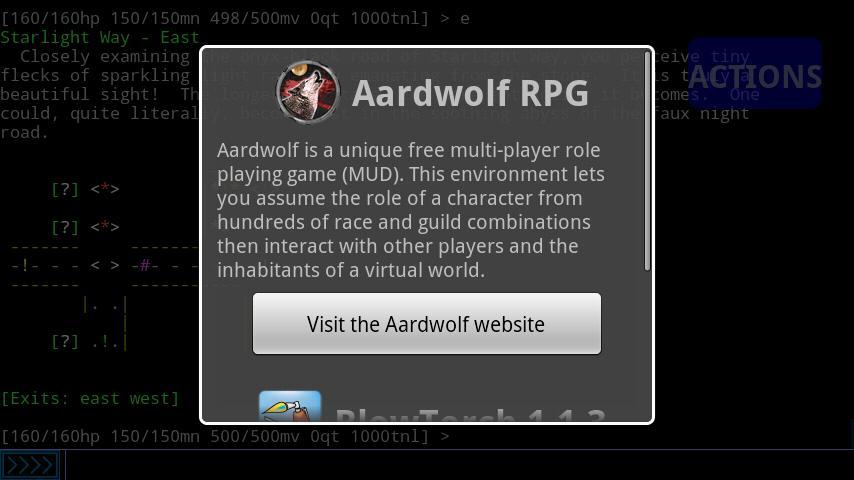 Aardwolf RPG- screenshot