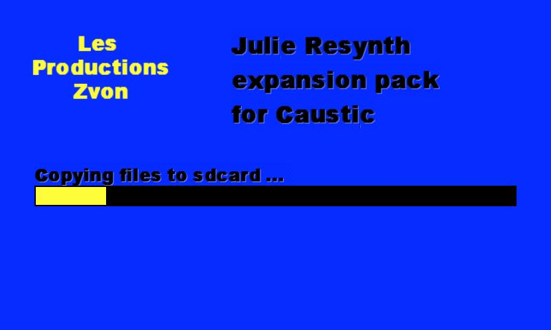 Julie Resynth for Caustic - screenshot