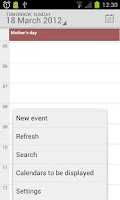 Screenshot of Calendar from Android 4.4