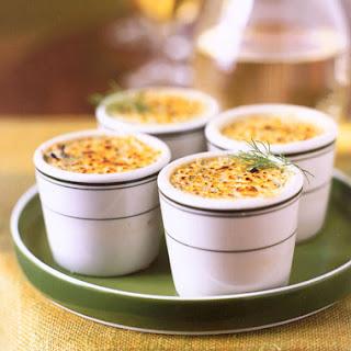 Gorgonzola and Leek Crème Brûlée