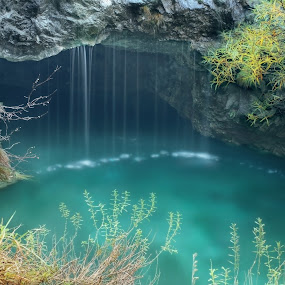 THE NICEST JAIL by Paolo Lazzarotti - Landscapes Waterscapes ( water, water drops, emerald color, apuan alps, cave, rocks )
