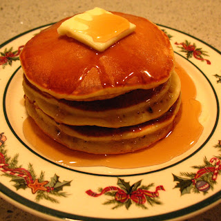 Boozy Eggnog Pancakes
