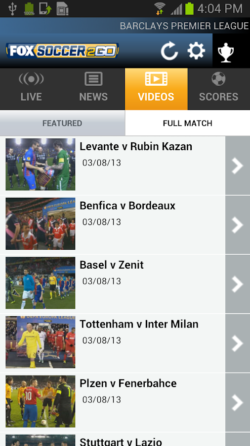 Fox Soccer 2 Go - screenshot