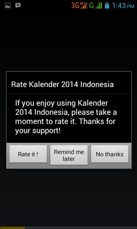Kalender 2014 Indonesia - screenshot