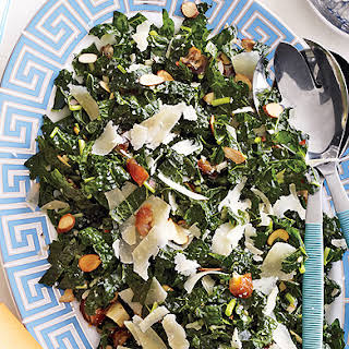 Kale Salad with Dates, Parmesan and Almonds.