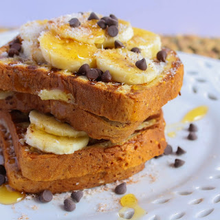 Gluten-Free Banana and Chocolate Chip Stuffed French Toast