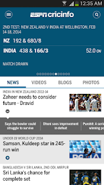 The ESPNcricinfo Cricket App Screenshot 1
