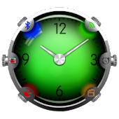 Colorful Glass Clock Widget HD
