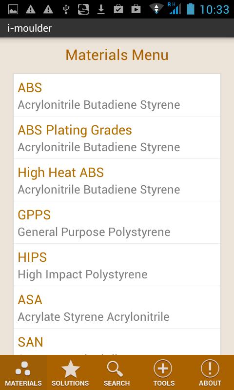 i-Moulder Plastic Molding Info- screenshot
