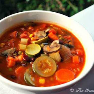 Clean Eating Minestrone Soup.