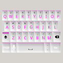 White and Pink Keyboard Skin icon