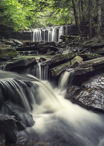 Below Oneida Falls by Aaron Campbell - Nature Up Close Water ( luzerne county, stream, waterfall, rgsp, ricketts glen, color efex pro, viveza, nature, e pz 16-50mm f/3.5-5.6 oss, kit lens, state park, august, dfine, friday, ganoga glen, fairmount township, falls trail, 22nd, 2014, nik collection, a6000, cascades, pennsylvania, nepa, mirrorless, ilce-6000, sony, oneida falls, summer, slow shutter )