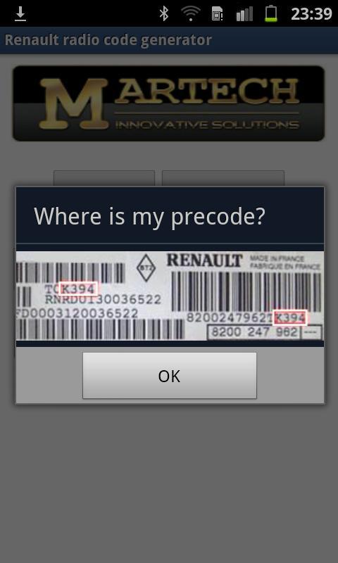 Renault Radio Code Generator - screenshot
