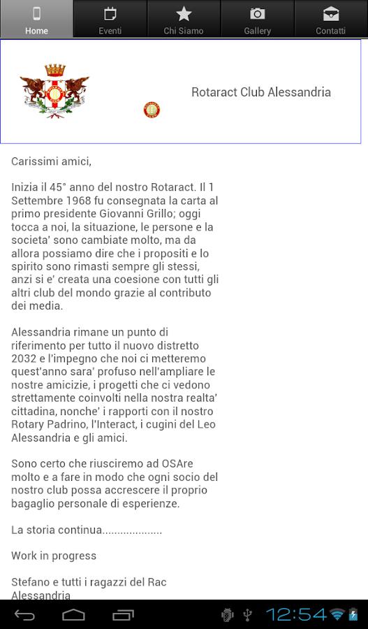 Rotaract Club Alessandria - screenshot