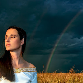 Stormy sky by Melissa-lee Annetts - People Portraits of Women ( beauty, storm, rainbow, reflect, portrait )