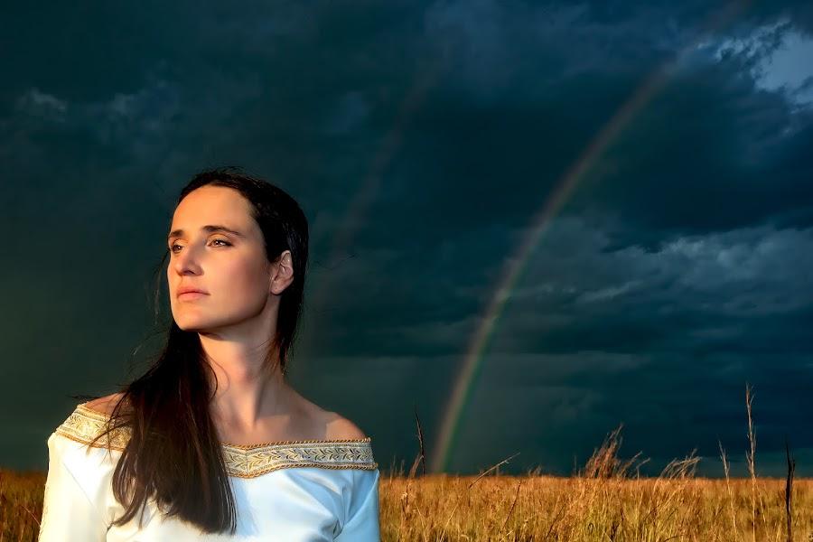 Stormy sky by Melissa-lee Annetts - People Portraits of Women ( beauty, storm, rainbow, reflect, portrait )
