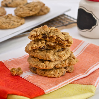 Oatmeal Peanut Butter Dark Chocolate Raisinette Cookies.